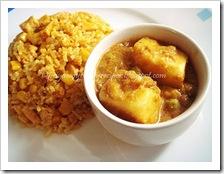 Priya's corn tofu pilaf