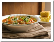 Prajakta's three bean chili and corn bread
