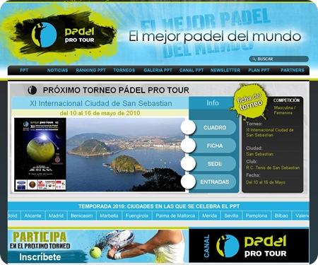 Nueva Web Padel Pro Tour