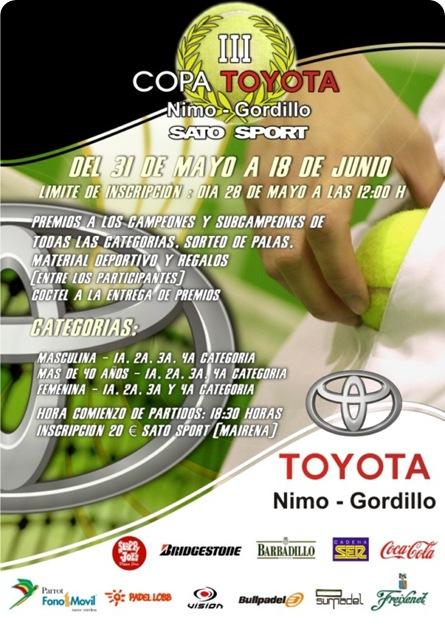 III Copa Pádel TOYOTA Nimo-Gordillo Club Sato Sport 2010