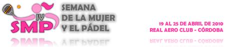 Web semana de la mujer y el Pádel en Cordoba 2010
