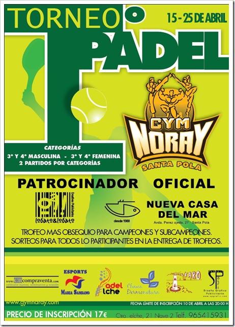 Torneo de Pádel GYM Noray Santa Pola Abril de 2010