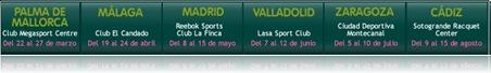 Pruebas DKV Padel Women Tour 2010