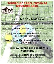 Torneo de Padel Fiesta de Misiones 2010