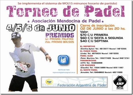 Torneo Padel AMP Argentina Junio 2010 IV Prueba FAP