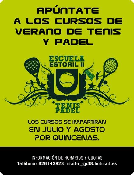 Cursos Verano Tenis y Pádel Escuela ESTORIL II 2010