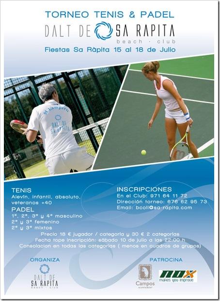Torneo Tenis y Padel Dalt d´ Sa Rapita Mallorca Julio 2010