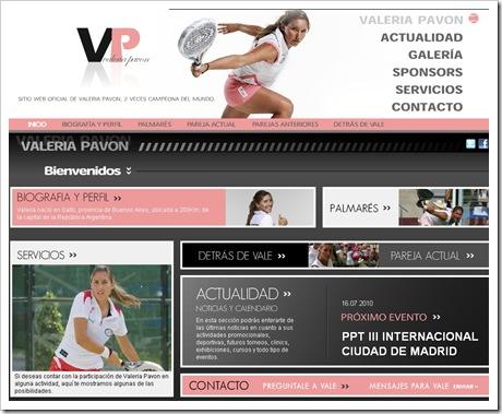Valeria Pavon nueva web 2010