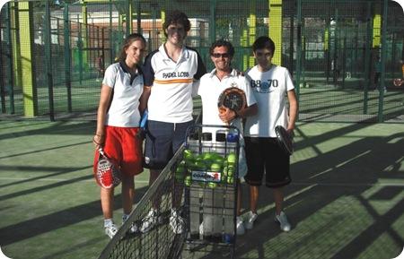 Amigos Planeta Pádel, Marta, Juan Carlos y Miguel