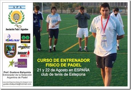 Curso Entrenador Fisico de Padel Estepona Malaga Profesor Balquinta 2010