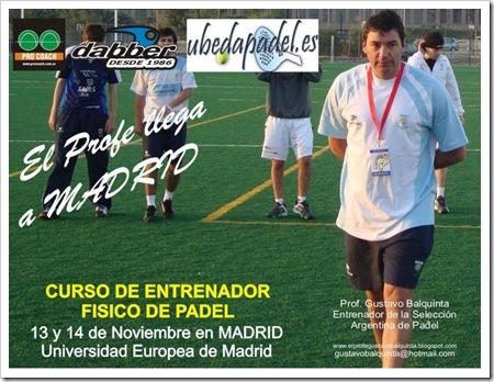 Curso Entrenador Físico de Pádel en Madrid UEM 13, 14 DE NOVIEMBRE 2010