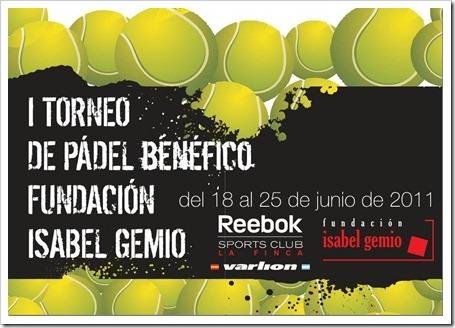 I Torneo Pádel Solidario Fundacion Isabel Gemio Reebok La Finca Junio 2011