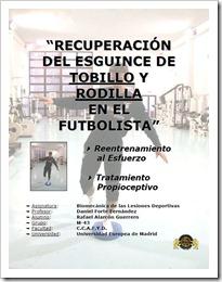 Recuperación Esguince Tobillo y Rodilla en Pádel y Fútbol trabajo