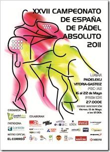 CAMPEONATO DE ESPAÑA DE PADEL ABSOULTO 2011 EN VITORIA