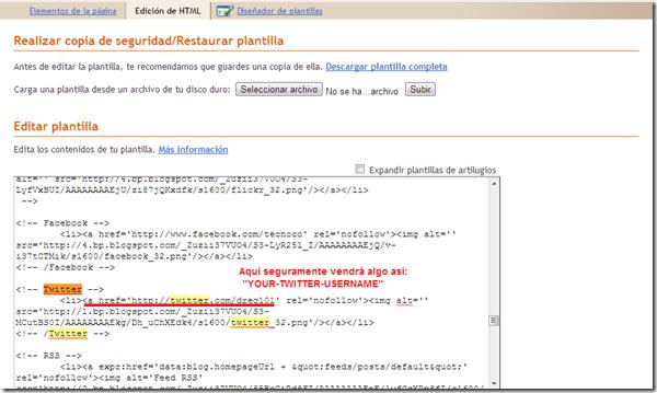 Blogger    Editar código HTML de la plantilla