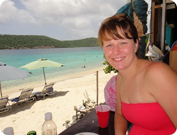 Jill at Coki Beach, St Thomas USVI