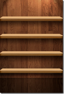 wooden shelves iphone wallpaper
