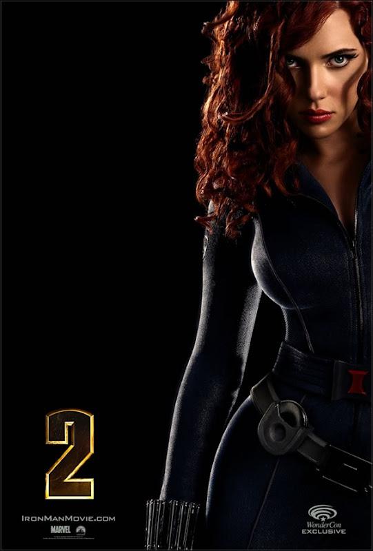 IRON MAN 2 Mini-Poster of Scarlett Johansson as Natasha Romanoff Black Widow Wonder Con