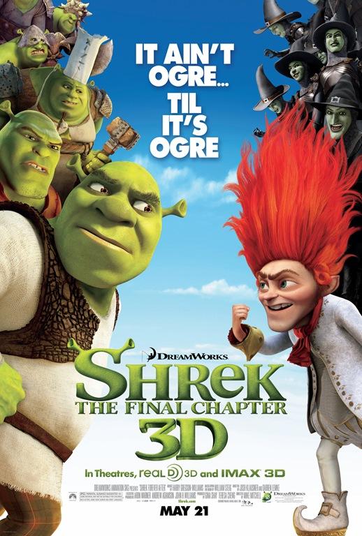 Shrek Forever After final movie poster Shrek 4