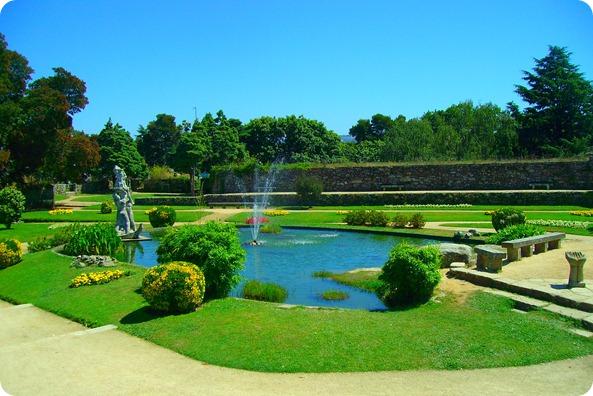 Jardim no topo do Monte Castro