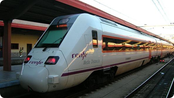 Trem Regional na Estação de Vigo