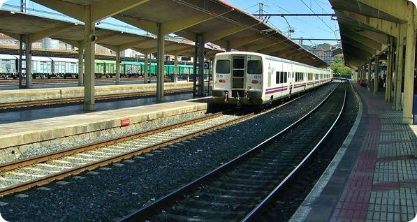 Trem na Estação de Ourense