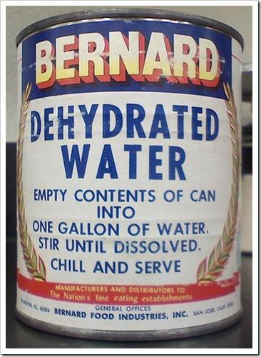 Basta juntar água!
