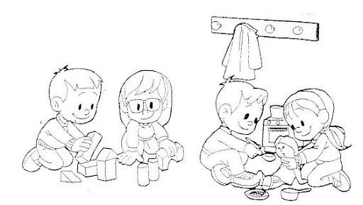 El silencio de los niños dibujos para colorear - Imagui