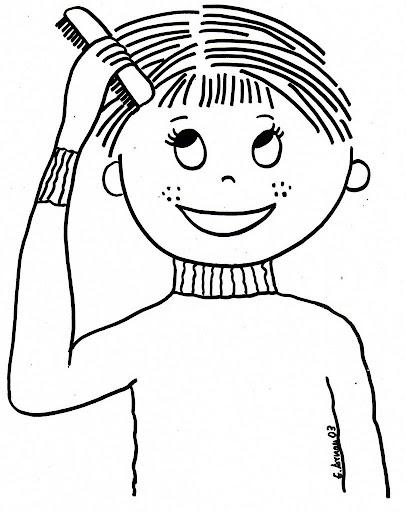 Muestras de habitos de higiene para colorear - Imagui