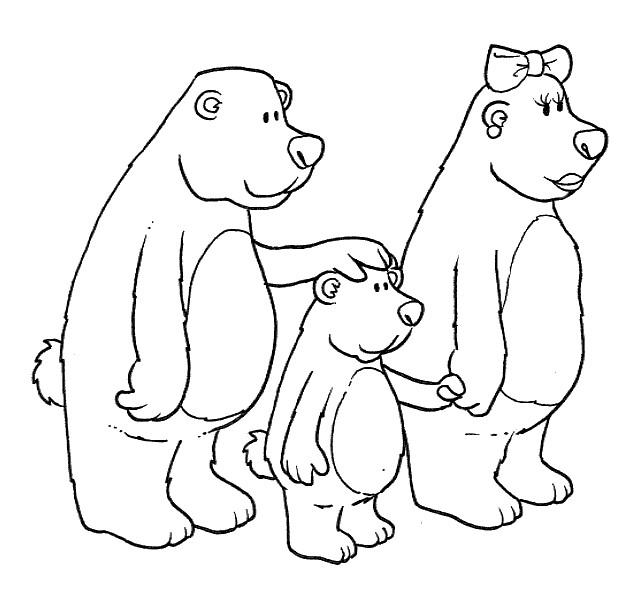 картинка три медведя