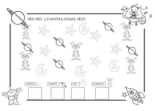 El sistema solar para colorear para niños de preescolar - Imagui