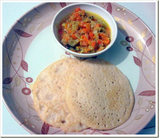 set dosa & carrot kurma 1