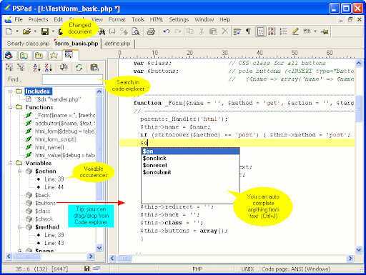 PSPad  Source code editor