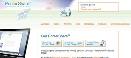 PrinterShare - remote printing software