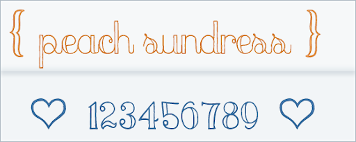 peach sundress  - Free Cursive Font