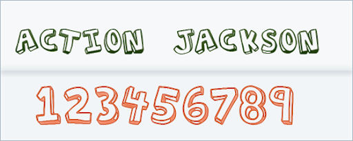 Action Jackson Hand drawn Font