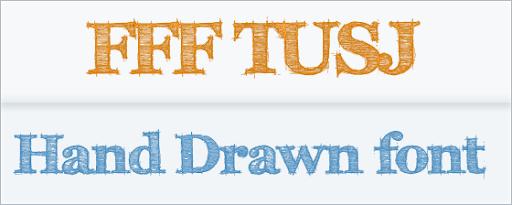 FFF TUSJ- Free Hand Drawn Font