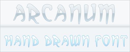 Arcanum : Hand Drawn font