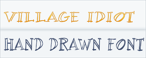 Village Idiot BB, Regular  : hand Drawn Font