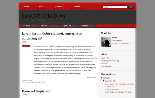 smart shadow blogger template