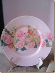 piatto decoupage sfondo rosa 2