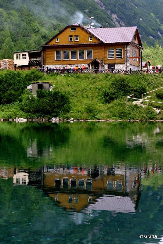 Nagy Zöld tó a Nagy Morgás hágóból leereszkedve