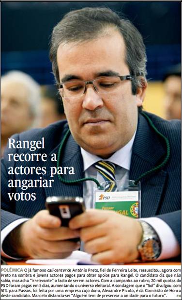 Rangel recorre a actores para angariar votos