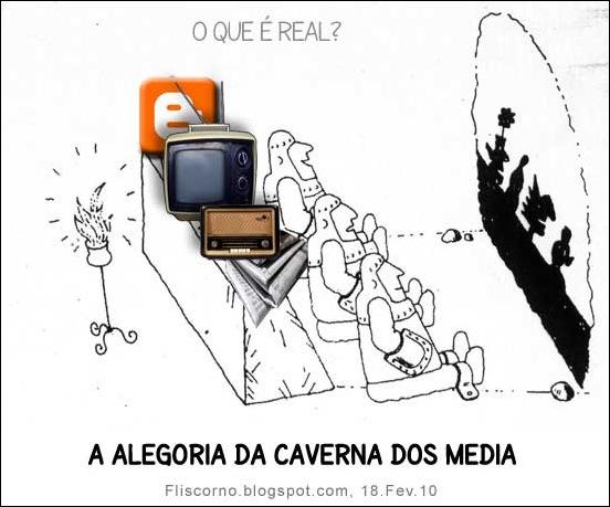 alegoria da caverna dos media