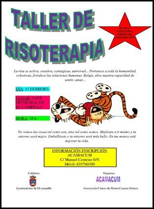 CARTEL DE TALLER DE RISOTERAPIA