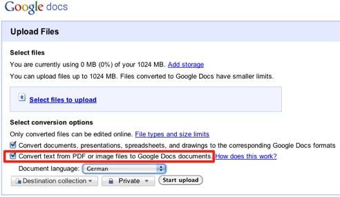 Google DocsUploadOCR