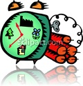 bomb waktu cartoon clip art