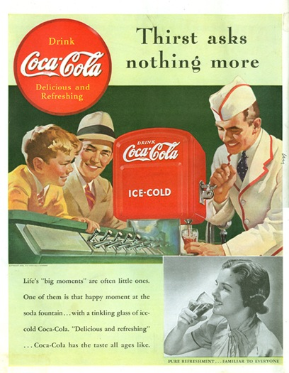 coca cola fountain 1939