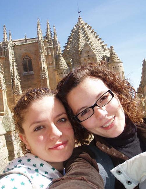 Nosotras en lo alto de la Catedral