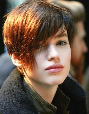 Asymetrical shag short Hairstyle 2010